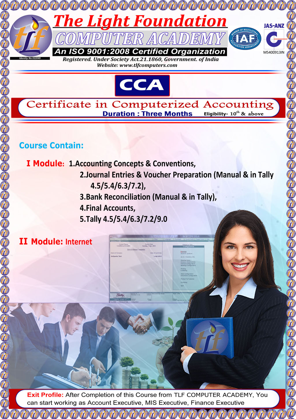 Tlf Computers Courses Certificate In Computerized Accountingcca